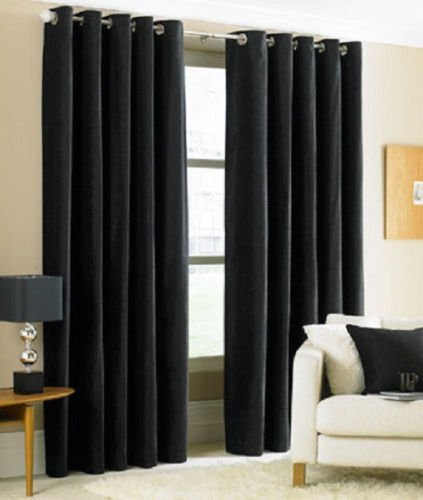 Foam Back Drape - Gorgeous Home *DIFFERENT SOLID COLORS & SIZES* (#72) 1 PANEL SOLID THERMAL FOAM LINED BLACKOUT HEAVY THICK WINDOW CURTAIN DRAPES BRONZE GROMMETS (BLACK, 108