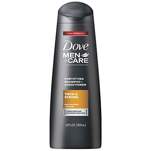 Dove Men+Care 2 in 1 Shampoo and Conditioner, Thick and Stro
