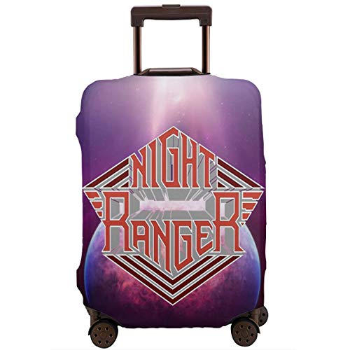 Personality Luggage Cover Night Ranger Greatest Hits Music Band Aid 3D Luggage Protector Suitcase Cover 18-32 Inch ()