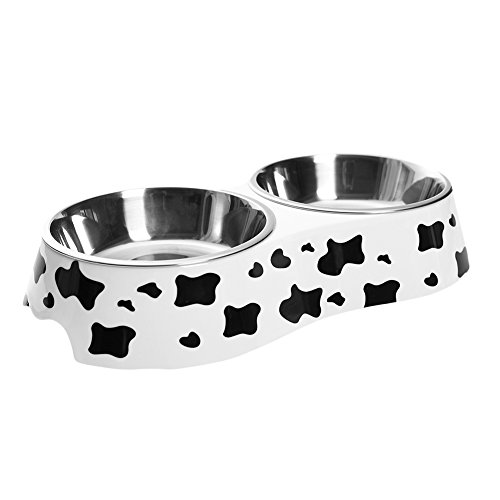 Cheap WZPB Dog Bowl Cat Bowl Stainless Steel Double Diner Food Water Bowl for Puppy and Cat