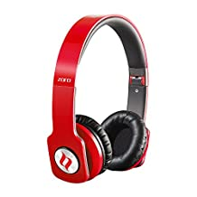 ERG MF3114-R Noontec Professional Steel Reinforced SCCB Sound Technology Headphones, Red