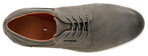 Clarks-Unbyner-Lane-Mens-Gray-Leather-Casual-Dress-Lace-Up-Oxfords-Shoes-9