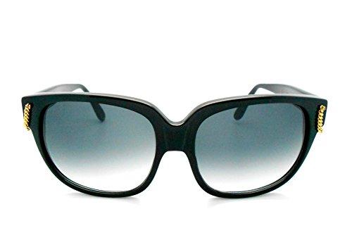 Emmanuelle Khanh Vintage 8080 Black Sunglasses (Emmanuelle Khanh)