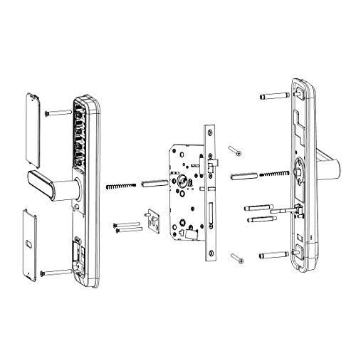 Kaadas L7-5 Lever Smart Lock,Keyless,Touch Pad,Fingerprint+Password+RFID Card+Key Obsidian Black