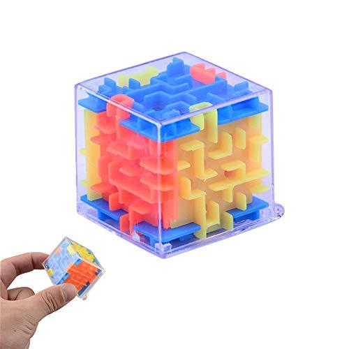 Lemoning 3D Cube Puzzle Maze Toy Hand Game Case Box Fun Brain Game Challenge Fidget Toys