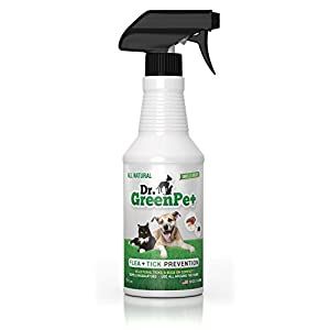 Dr. GreenPet All Natural Flea and Tick Prevention and Control Spray for Dogs and Cats - 16oz - Smells Great! 23