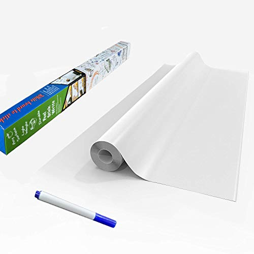 Dry Wipe Magic Self Adhesive Whiteboard Wall Decal Sticker Roll - DIY Wall Paper Contact Paper White Board Stickers 17.7