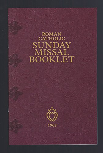 - Roman Catholic Sunday Missal Booklet - 1962, Tridentine Rite