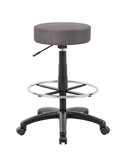 Boss Office Products B16210-CG DOT Drafting Stool in Charcoal Grey