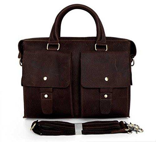 STILORD Sac en Cuir véritable Besace Sac Serviette Laptop / Notebook / MacBook 13,3 pouces Besace Messenger Bag Unisexe Cuir Marron