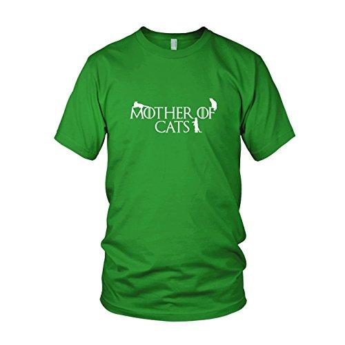 Mother of Cats - Herren T-Shirt, Größe: L, Farbe: grün