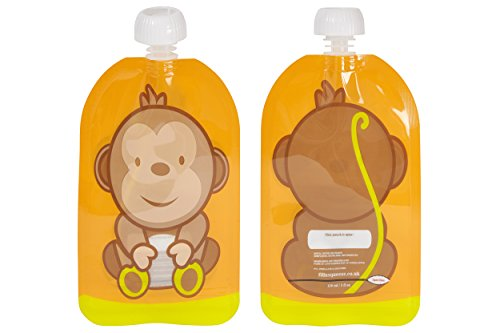 - Fill n Squeeze Bottom Opening Reusable Pouch for Easy Cleaning. 6 x 150 ml Pack Easy Fill & Clean Pouches Perfect for Weaning, Travel, Pureed Fruit, Organic & Homemade Babyfood, Babies, Toddlers & Kid