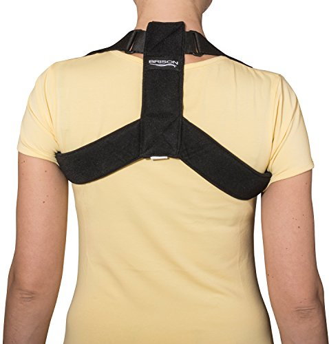 Posture Corrector by Brison - High Back Support Posture Brace made to Improve Bad Posture; Adjustable Comfortable Clavicle Support, Shoulder Alignment, Upper Back Pain Relief for Man & Woman.
