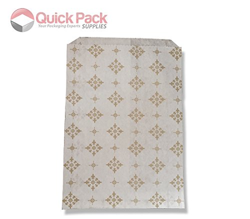 200 Pack – 5″ x 7″ Gold Star Pattern Sweet Paper Bags