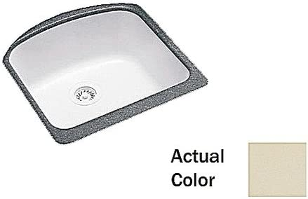 Swanstone US02021SB.037 Solid Surface Undermount Double-Bowl Kitchen Sink, 21-in L X 20.25-in H X 9-in H, Bone