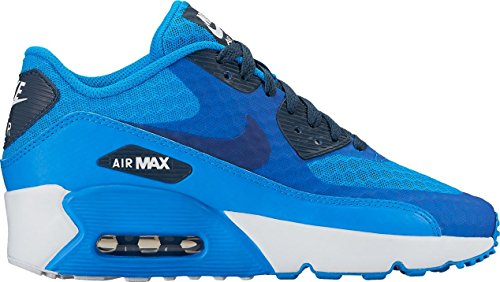 Nike Big Kids Air Max 90 Ultra 2.0 BR (GS) Photo Blue/Armory Navy-White 881925-400 (6Y)