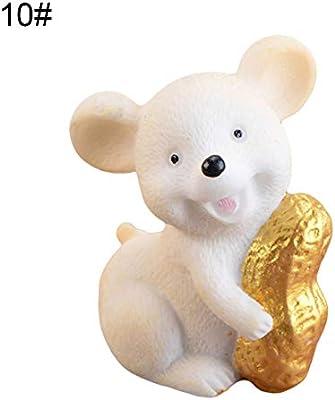 Money Lucky Rat Animal Figurines Statue DIY Garden Table Ornament Home Decor