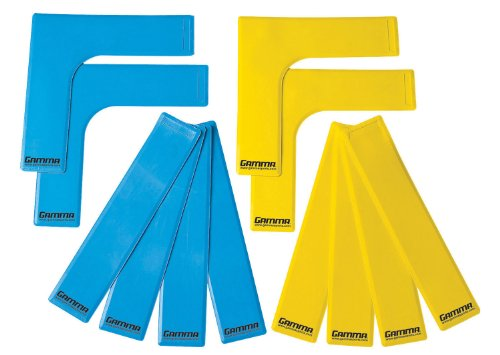 Gamma Court Marker Lines, Yellow/Blue