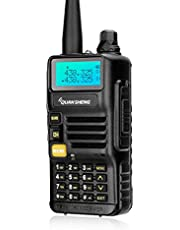 Quansheng UV-R50 5-Watt Dual Band Two-Way Radio 128 Channels Walkie Talkie (136-174MHz VHF & 400-520MHz UHF) FM Transceiver Long Range Ham Radio for Outdoor Adventures, Includes Headset