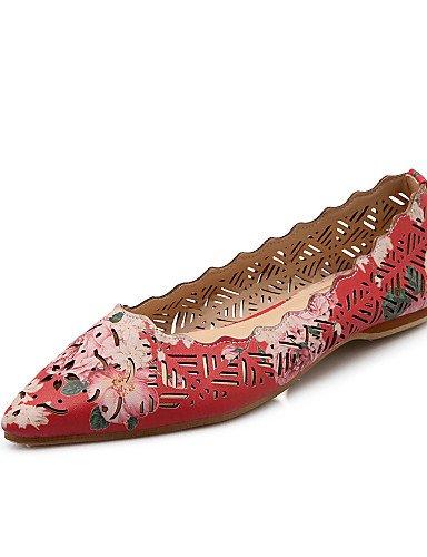 Toe us7 mujeres zapatos cn38 de rojo casual PDX 5 talón Flats las uk5 púrpura vestido carrera oficina green 5 verde eu38 plano y señaló xtq0wndUwg