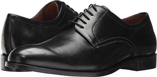 Massimo Matteo Men's 5-Eye Plain Toe Blucher Black 8 D US (Plain Mens Shoes Toe Blucher)