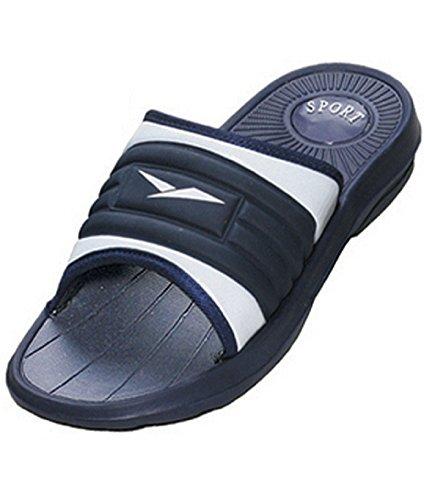 159c251b9de6ae ICS Men s Rubber Slide Sandal Slipper Comfortable Shower Beach Shoe Slip  On