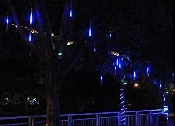 Amazon 30cm led meteor shower rain tube lights outdoor tree 30cm led meteor shower rain tube lights outdoor tree decoration blue aloadofball Gallery