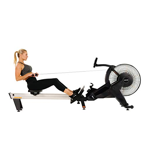 Sunny Health & Fitness Asuna Ventus Air Magnetic Rowing Machine Rower with Air and Magnetic Resistance, High Weight Capacity, Performance Monitor and Aluminum Slide Rail