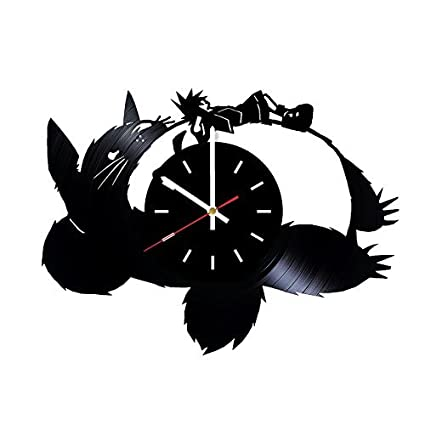 Choma My Neighbor Totoro Anime Vinyl Clock Studio Ghibli