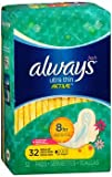 Always Ultra Thin Active Flexi-Wings Pads Regular Clean Scent, 32ct, Pack of 6