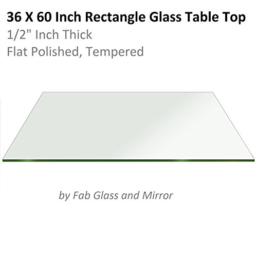 Fab Glass and Mirror Rectangle Glass:30X60 Inch 1/2