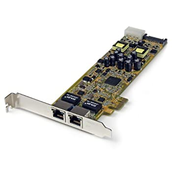 Startech Dual Port Pci Express Gigabit Ethernet Network Card Adapter - 2 Port Pcie Nic 10100100 Server Adapter With Poe Pse 0