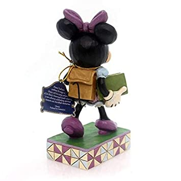 Disney Traditions by Jim Shore Back to School Minnie Mouse Stone Resin Figurine, 5.875