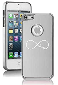 Apple iPhone 5c Aluminum Plated Chrome Hard Back Case Cover Infinity Infinite Dance Forever (Silver) wangjiang maoyi