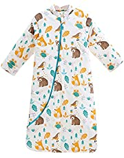 Fyzeg Baby Sleep Sack 2.5 Tog Removable Sleeves Winter Toddlers Sleeping Bag,Organic Cotton, Unisex Baby Sleeping Sack from Birth to 4 Years Old