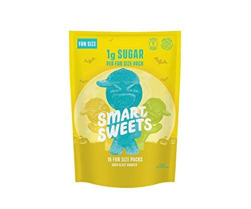 SmartSweets Low Sugar Sour Blast Buddies Candy, 0.34 Ounce Fun Size Packs, Free of Sugar Alcohols and No Artificial Sweeteners, Sweetened with Stevia, Natural Fruit Flavors, 15 Count ()