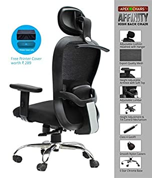 APEX Chairs™ Affinity Hanger HB REVOLVING Office Chair, Study Chair, BOSS Chair.