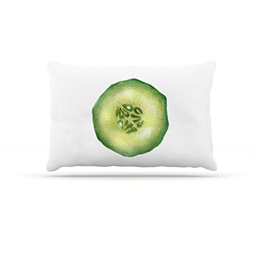 Kess InHouse Theresa Giolzetti Cucumber  Fleece Dog Bed, 50 by 60 , Green White