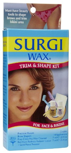 Wax Shapers Brow Surgi (Surgi-Care Surgi-Wax Trim & Shape Kit For Face & Bikini)