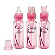 Dr. Brown's BPA Free Baby Bottles 8 Oz. - Pink - 3 Pack