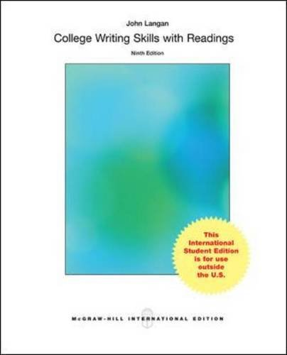college writing skills with readings 10th edition answer key