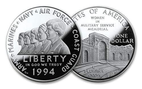 1994 P Women in Military Service Commemorative Proof Silver Dollar DCAM OGP Box w/COA US Mint