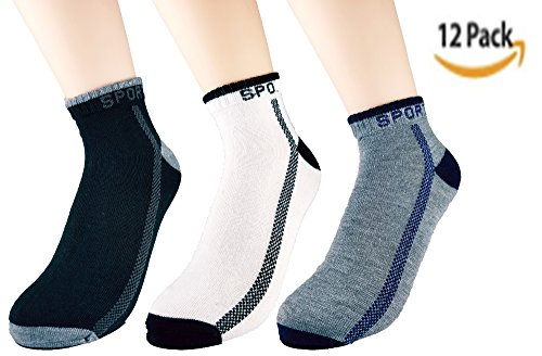 Athletic Low Cut Ankle Mens Socks - Size: 8-13 ( 12