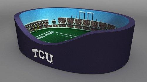 Stadium Pet Beds NCAA TCU Horned Frogs, 18 x 22-Inch
