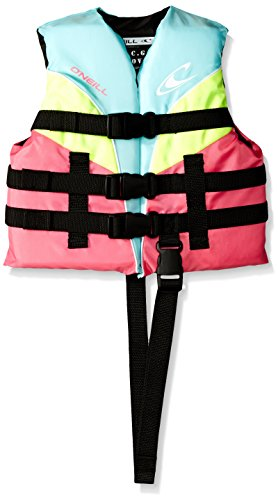 O'Neill  Child Superlite USCG Life Vest,Turquoise/Berry/Lime/White,30-50 lbs ()