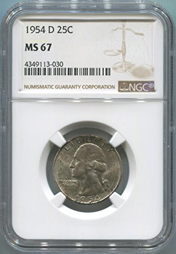 1954 P Washington Quarter Quarter MS67 NGC