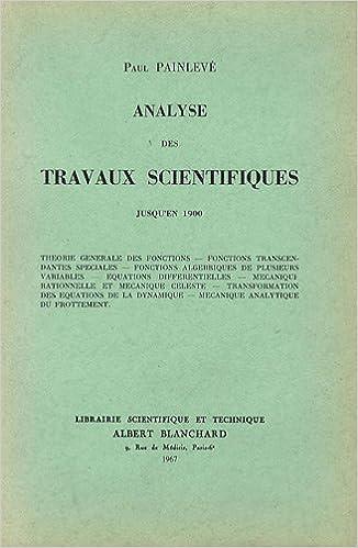 Lire un Analyse de travaux scientifiques pdf epub