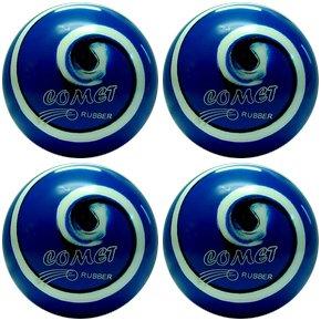 EPCO-Duckpin-Bowling-Ball-4-Comet-Pro-Rubber-Royal-Black-White-Balls