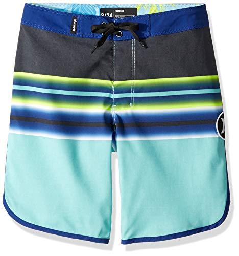 (Hurley Boys Stretch Board Shorts, Tropical Twist, 8)