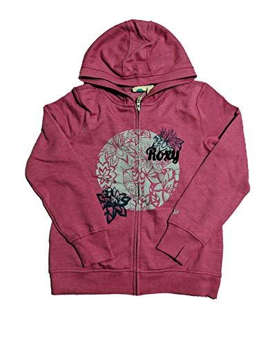 ROXY Girls' Full Zip Hoodie Jacket (Medium (10/12), Fucshia) (Roxy Hooded Jacket)